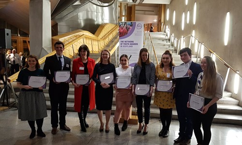 Awards Network launch of 'Awards Aware' scheme a success at Scottish Parliament Reception
